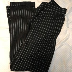 FOREVER 21 Striped High Waisted Trousers